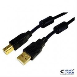 CABLE USB 2.0 A/M-B/M 5M...